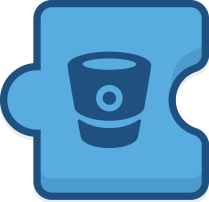 Graphic of puzzle piece with Bitbucket logo meant to represent add-on ecosystem